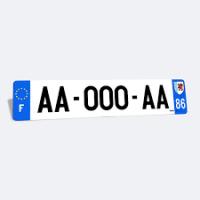 Commandez votre plaque d'immatriculation chez 100% Pneu Croisy-sur-Andelle