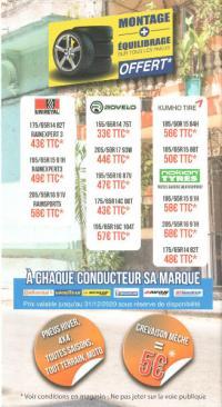 Toutes les promotions pneus 2020 chez 100% Pneu Croisy-sur-Andelle